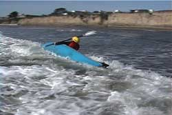 paddler capsizing toward shore and brace didn't work