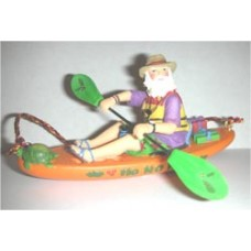 Sit-On-Top Paddling Santa Ornament  **Clearance Sale Price**