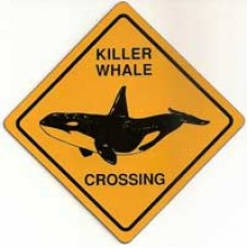 Killer Whale X-ing Sign