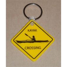 Kayak Crossing Key Chain